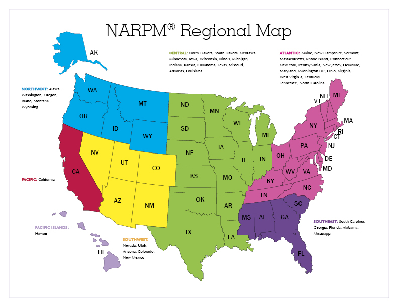 Regions National Association Of Residential Property Managers - Georgia map with regions